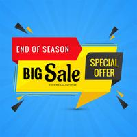Beautiful creative big sale banner colorful vector design