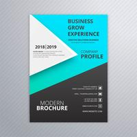 Abstract business brochure template colorful design vector