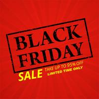 Black friday poster with stamp vector background