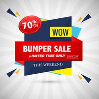 Bumper sale banner colorful design