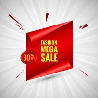 Fashion mega sale colorful banner design vector