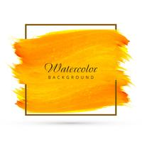 Abstract yellow watercolor brush background vector
