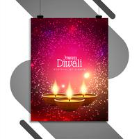 Abstrait Happy Diwali conception de modèle de flyer