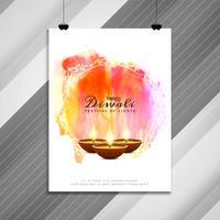 Diseño de folleto religioso abstracto feliz Diwali