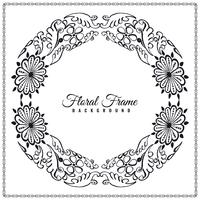 Abstract elegant floral frame background design