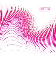 Abstract halftone stylish colorful wave design