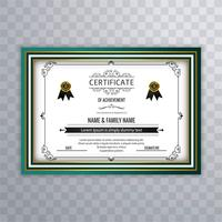 Abstrakter schöner Zertifikatschablonen-Designvektor
