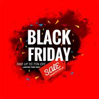 Beautiful black friday sale poster background illustration