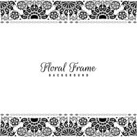 Abstract floral frame decorative background