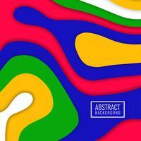 Fondo elegante colorido abstracto del papercut