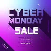 Posto de mídia social da Cyber Monday