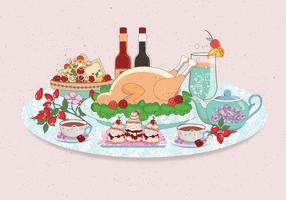 Thanksgiving Table Overhead Vol 2 Vector