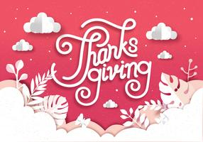 Papercraft Thanksgiving Vol 2 Vector