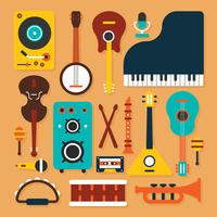 Vetor de instrumento de música