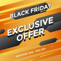 Black Friday Exclusive Offer Media Post Vector