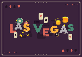 Las Vegas Vector Background
