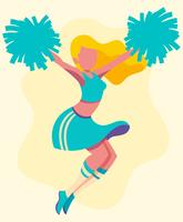cheerleader illustration