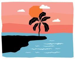 Paisagem mínima da praia