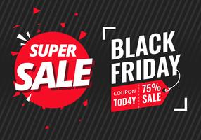 Black Friday-Verkoopbanner Vector Ilustration