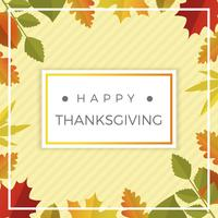 Flat Thanksgiving Leafs Papercraft Vector Background Illustration