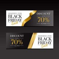 Black Friday Sale Banners Luxury Gold Template