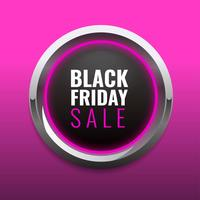Modèle de bouton Black Friday Post Template Media Style.