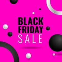 Pink Background Black Friday Social Media Post Template