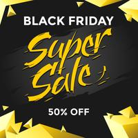 Black Friday Super Venda Social Media Post Vector
