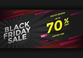 Black Friday End Of Season Sale Banner Vector