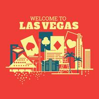 Illustration de bienvenue à Las Vegas