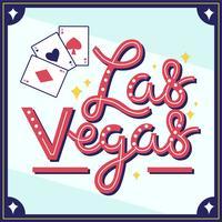 Viva Las Vegas typografie Vector