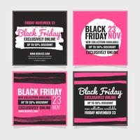 Vecteur Black Friday Social Media Post