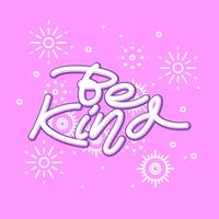 Be Kind Hand Lettering Vector