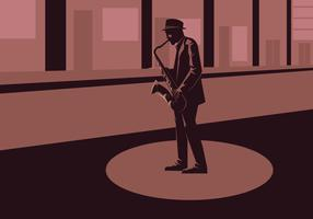 Illustration vectorielle saxaphone