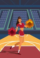 Basketball-Cheerleader