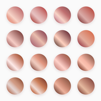 Rose Gold Gradient Swatches Vector