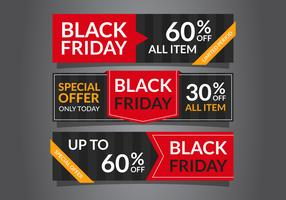 Eleganti banner di vendita del Black Friday