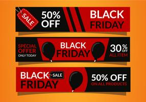 Black Friday-verkoopbannersmalplaatje