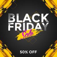 Black Friday Sale Social Media Post Vector