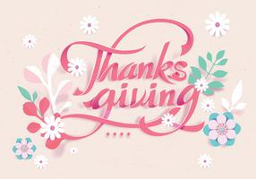 Papercraft Thanksgiving Vector