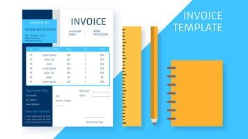 Professional Invoice Template Vectors