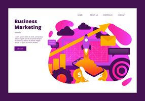 Business Marketing Banner Vector Template