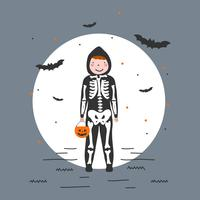 Boy In Costume Vector