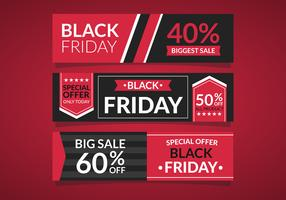 Black Friday-verkoopbannerset
