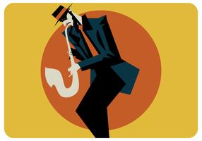 Emotionele Saxoponist Vector