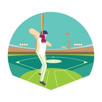 Baseball Player in Action on the Stadium or Baseball Park vector