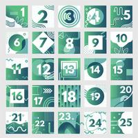 Abstract Advent Calendar Vector