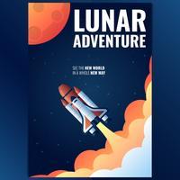 Buitenste ruimteschip Rocket Poster sjabloon