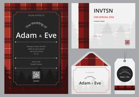Buffalo Plaid Invitations Template redo att använda