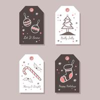 Holiday Gift Tag Vector